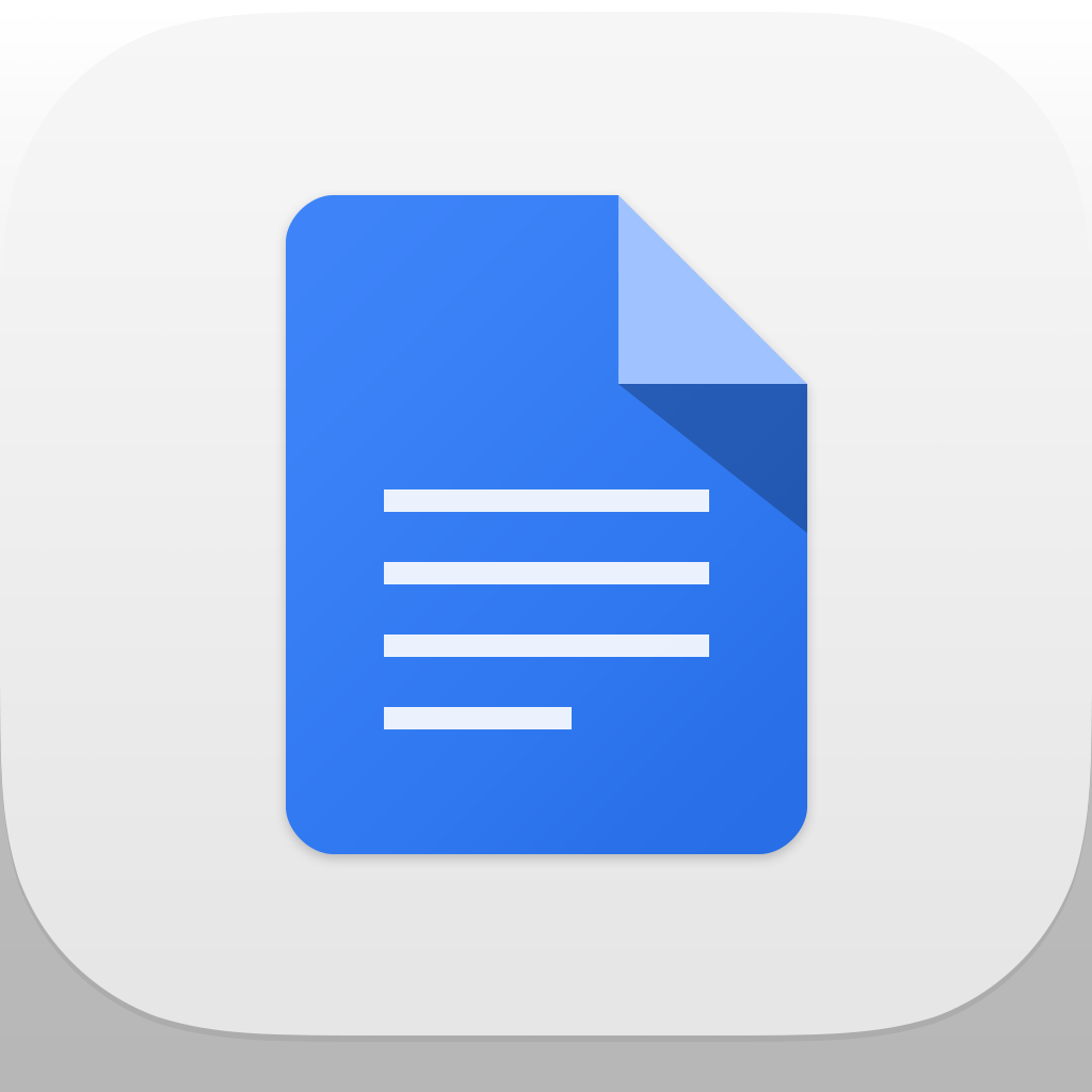 Cool app update google docs for iphone and ipad open for Google docs app for windows